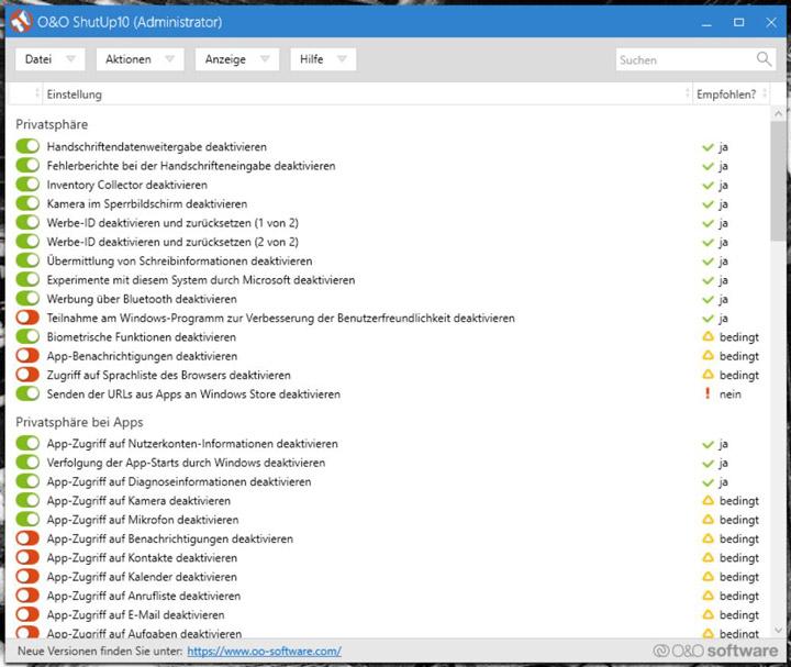 Windows 10 Spionage: Spy Funktionen abschalten!