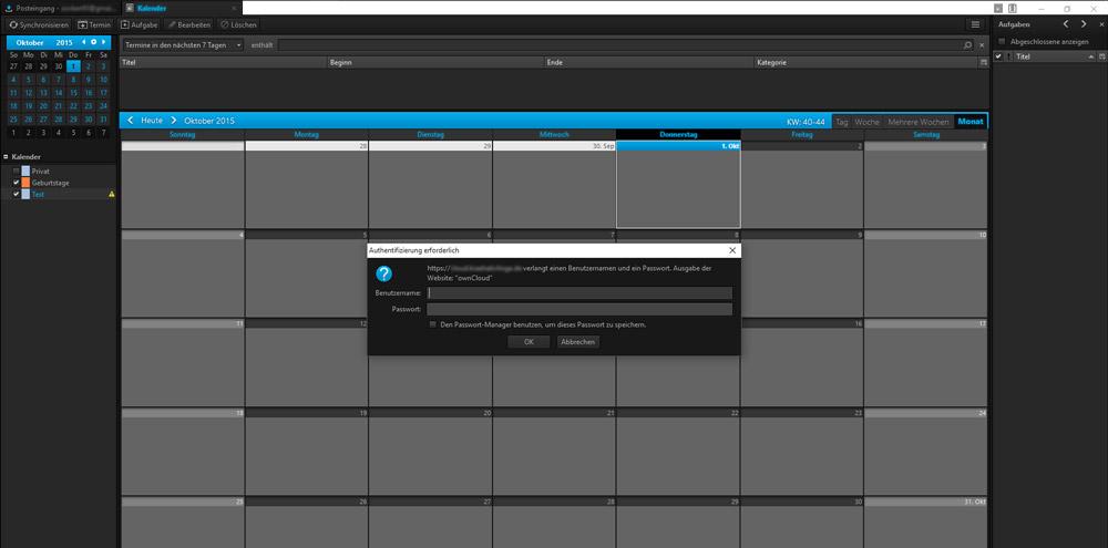 Thunderbird Kalender mit ownCloud synchronisieren